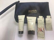 Ahava Mineral Hand Cream .68 oz + Body Lotion 1.3 oz Velvet Cream Wash + Foot Cr