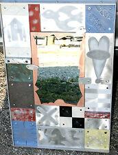 "Vtg ARTISTIAN Modernist THOMAS MANN ""Techno Romantic"" Mixed Metal Mirror $2400!!"