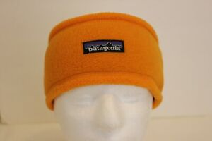Patagonia Yellow/Orange Fleece Headband Adult Size M