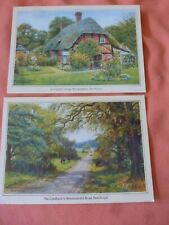 2 POSTCARDS OF THE NEW FOREST.