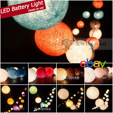 Ready to use Battery or Plug 20,35 Cotton Ball String Lights Fairy Bedroom Home