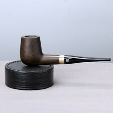 Tobacco Pipe Ebony Wooden Smoking Pipe with Accessories 9mm ilfter Stand Cleaner