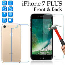 Tempered Glass 9H screen protector Apple iPhone 7 PLUS Front + anti-scratch Back