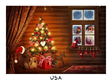 7x5ft Christmas Santa Night View Windowsillbackdrop Background Photography Vinyl
