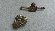 TWO VINTAGE STERLING SILVER MILITARY NAVAL  CAP / SWEETHEART BADGES
