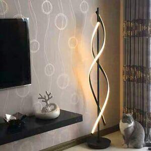 Modern 30W LED Spirale Stehlampe Standleuchten Dimmbare Warmweiß Wohnzimmer