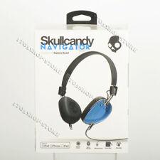 Skullcandy Navigator On-Ear Foldable Headphones Headsets w/Mic Royal Blue/Black