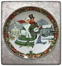 ROYAL WINDSOR WINTER WONDERLAND CHRISTMAS CAROL PLATE WITH BOX AND COA