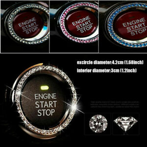 For Toyota Auto Car Decorative Button Start Switch Diamond Ring Car Accessories