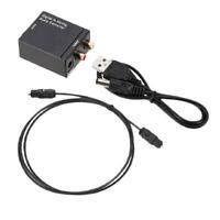 Convertisseur Numérique-Analogique Audio ,Adaptateur avec Câble Audio Optique