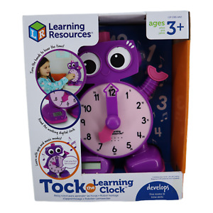 Learning Resources Tock The Learning Clock Educational Talking Clock  Ages 3+
