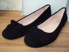 JONES GLEEFUL BLACK SUEDE BALLET PUMPS/ SHOES, SIZE 7 / 40