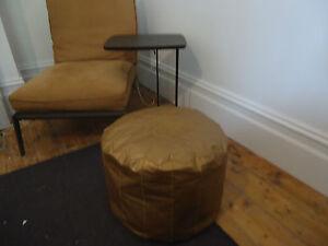 Moroccan Ottoman Pouf Pouffe Footstool - Bronze-Gold