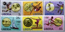 LIBERIA 1976 990-95 736-41 Summer Olympics Montreal Sailing Hurdling Sport MNH