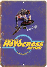 "Mike Buff BMX Bicycle Motocross 10""x7"" Metal Sign Vintage Look Reproduction B82"