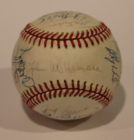 1990 Cleveland Indians team signed autographed baseball! Guarantee Authentic!