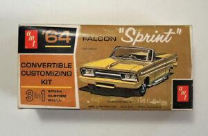 Vtg AMT '64 Pontiac Bonneville Convertible Model Kit in Falcon Sprint Box