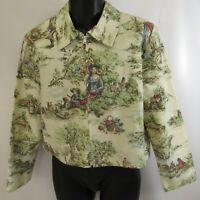Painted Pony Country Scene Jacket Women's Size L Full Zip Blazer Large Coat