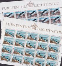 Liechtenstein 1979 Mint MNH 2 Minisheets Sheet Telecommunications Plane Zeppelin