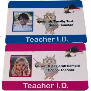 Child's Teacher ID Card | Play ID Card for Kids Fancy Dress Costume | Free Post