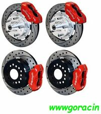 "WILWOOD DISC BRAKE KIT,COMPLETE,67-69 CAMARO,RED Calipers , 12"" Drilled Rotors"