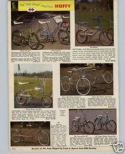 1970 PAPER AD Huffy The Wheel Banana Seat High Handlebars Bicycle Space Age Rail