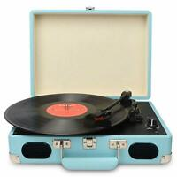 Vintage Turntable 3 Speed Vinyl Record Player Supports USB/RCA Output MP3