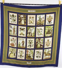 "Hermes Paris Authentic Imagerie 90 cm 35"" Square Silk Scarf"