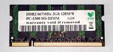 2 gb ddr2 RAM 200-pin SO-DIMM para portátiles pc2-5300s 667 MHz '...'