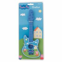 Pink, Blue Or Yellow Peppa Pig Children's Toy Play Guitar Musical Instrument
