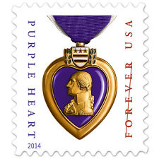 USPS New Purple Heart Stamp Sheet of 20 (2014)