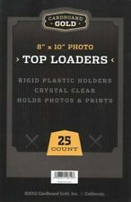 Cardboard Gold Rigid Plastic 8 x 10 Inches Photo Top Loaders