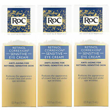 (3 Pack) RoC Retinol Correxion Anti-Aging Eye Cream for Sensitive Skin 0.5 Fl Oz