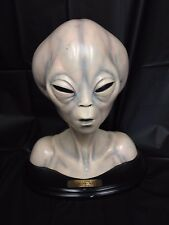 Roswell Ufo Alien Head Sculpture by Sculptor Steve Johnson Xfx 1995 With Plaque