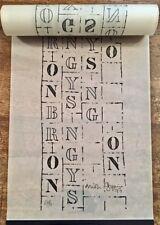 BRION GYSIN - ROLLER POEM - Poème graphique enroulé, numéroté et signé.