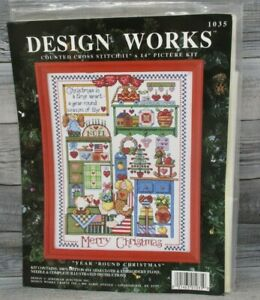 Christmas Cross Stitch Kit YEAR ROUND CHRISTMAS Design Works 1035