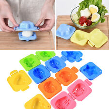 6 Pcs/Set Coloful Cartoon Eggs Mould Cooking DIY Tools Rabbit Bear Mold For Kids