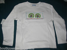 Girls Smocked LS Tee T-shirt 2T PEACOCKS NWT Vive La Fete NEW