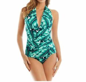 Magicsuit Women's Swimsuit Size 12 Lanai Claudia One Piece Slimming Halter