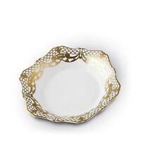"L'Objet Alencon Soup Plate 24k gold AC2300 8.5"""