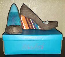 Blowfish Women's Illi Brown Cozumel Linen Size 8 Never Worn