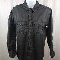Madewell Women's Button Down Shirt Long Sleeve Top Cotton Gray Size XS