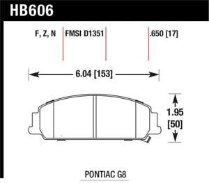Hawk for 2012 Chevrolet Caprice 3.6 HPS 5.0 Front Brake Pads - hawkHB606B.650