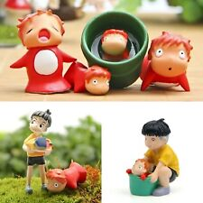 More details for ponyo figure pin ponyo on the cliff pin stickers studio ghibli free keyring 10pc