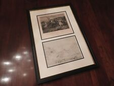 Two Original Sketches by Banastre Tarleton - Battle of Cowpens British Leader