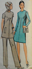 VTG 70s Chic Dress or Tunic Vogue 7938 Size 12 Bust 34 Hip 36
