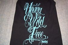 Snoop Dogg Young Wild and Free Tank Top T-Shirt Small Juniors Skinny