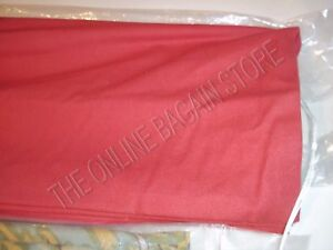 Pottery Barn Sausalito Shade Window Roman Folding Blinds RED Drapery 26x63
