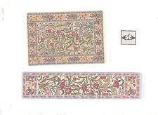 Rug Set #20Sr miniature dollhouse woven carpet 2pc 1/12 scale Turkish