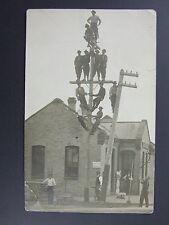 Pipestone Minnesota MN Railroad Rock Island Depot Telephone Linemen Scale c1910